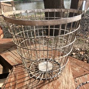 """Accents - Farmhouse wire basket 8 1/2"""" tall"""